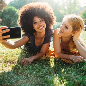 friends taking a selfie together